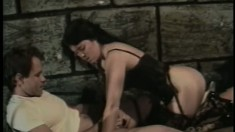 Smuggling a slut into the prison for a wild all-hole MMF threesome
