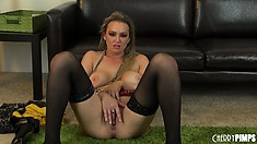 Sexy blonde MILF Abbey Brooks puts on a hot solo show to remember