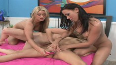 Brooke Cherry gets into a sexy foursome with naughty lesbians