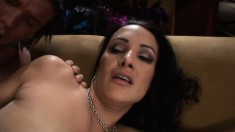 Insatiable milf with big tits Lisa Ann fucks a dick in every position