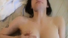 Hot Megan can't get enough of that hard stick drilling her narrow cunt