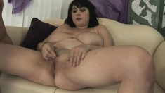 Busty Beverly Paige can't wait to have her creamy slit fingered