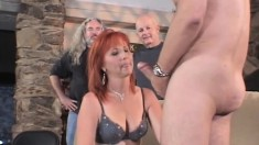 Hot Redhead Wife Enjoys A Session Of Intense Fucking With A Stranger