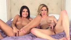 Delightful Lesbian Lovers Enjoy The Sweet Taste Of Each Other's Cunts