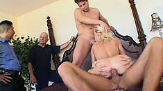 She's a cuckolding bitch that loves to be gangbanged real hard