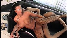 Sexy Anetta squeals loud when she cums all over his hard cock