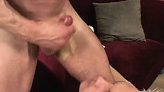 Kinky twink takes three dildos at once then gets fucked by a big boner