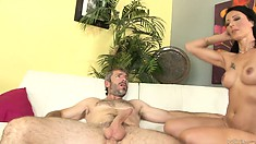 Heather Starlet fucked by Lisa DeMarco and her husband's cock