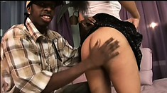 Minx, a wild Latina with a spicy ass and big tits, is on the prowl for black cock