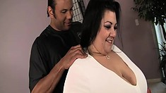 Reyna is a huge girl but she will spread just like any other slut