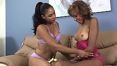 Insatiable girls love to engage in intense and wild lesbian sex