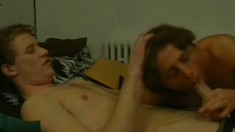 These horny gay lovers have hot anal sex first thing in the morning