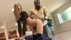 Hot blonde with a big ass Alexa finds intense pleasure in a black cock