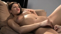 Ann Marie Rios has a stacked milf licking and fingering her wet peach