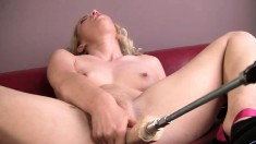 Smoking hot blonde wants to get her cunt drilled by a hot toy
