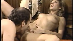 Lovely young Ginger Lynn can't get enough of banging Richard Bolla