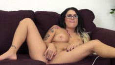 Eva Angelina plays with sex toys and enjoys the pleasure they provide