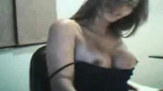 Enchanting girl shows off her perfect big boobs and her fabulous ass