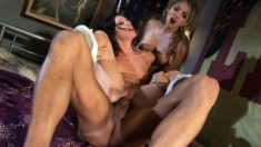 Taylor Rain and Roxy Jezel share their passion for hardcore anal sex
