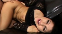 Horny Britney Stevens sucks up his wanker and gets totally plowed