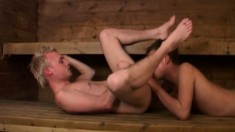 Lustful boy gives a great blowjob and receives a deep anal pounding