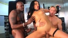Wild Carmen Vera indulges in her first hardcore interracial threesome