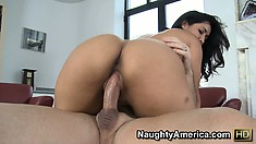 Isis Love looks amazing when seated on top of a big cock and riding it like crazy