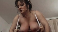 Big ass busty MILF rimmed and fucked