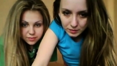 2 Young Teens Playing On Cam