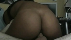 Amateur Black Chick on White Dick