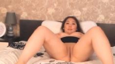 My Chubby Asian Stepsister Masturbating To Porn