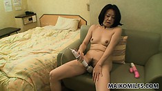 Leave it to an asian MILF like her to suck dick like a total pro