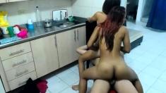 Spicy Latin teen threesome