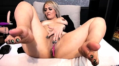 Busty MILF Dildo Masturbation