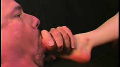 She's a freaky bitch into anal sex and giving lovely footjobs