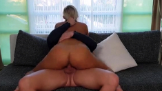 Brunnete BBW Leny in the ring with blonde BBW Lenka