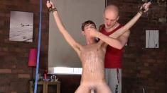 Gay twinks hooded bondage xxx Twink man Jacob Daniels is