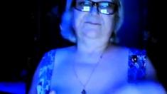 hot granny flashing her big tits of her husband hidden