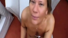 very nice blowjob, with facial and swallowing