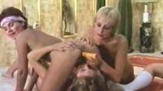 Vintage lesbos fingering pleasure