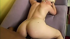 Wild college babe shows off her amazing body and gets pounded hard by a black guy