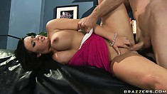 Brilliant hooker will never miss the chance to be banged in the mouth and in the butt