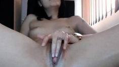 Hot Girl Masturbating And Cum