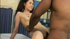 Dirty doctor takes advantage to pound some innocent Asian pussy