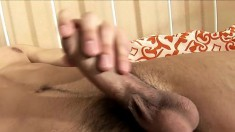 Naughty young guy Sid slides a toy up his butt to help him cum