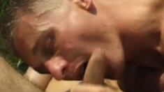 Gays go to the park for a little R&R of cock biting and ass plunging