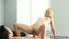 Stella Banx arches her back as her big lover finishes inside her