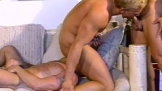 Hung dudes with massive muscles milk each other's handsome cocks