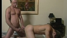 A fresh young stud sucks some dick well before it penetrates his ass